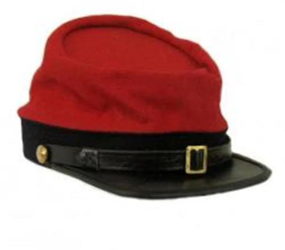 Reproduction Civil War Kepi Cap - Artillery Red