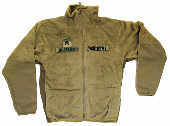 U.S. ARMY Generation III Level 3 ECWCS Fleece Jacket with Name Tapes and Rank