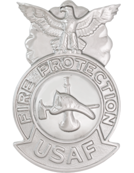 USAF Firefighter Badge Metal Insignia