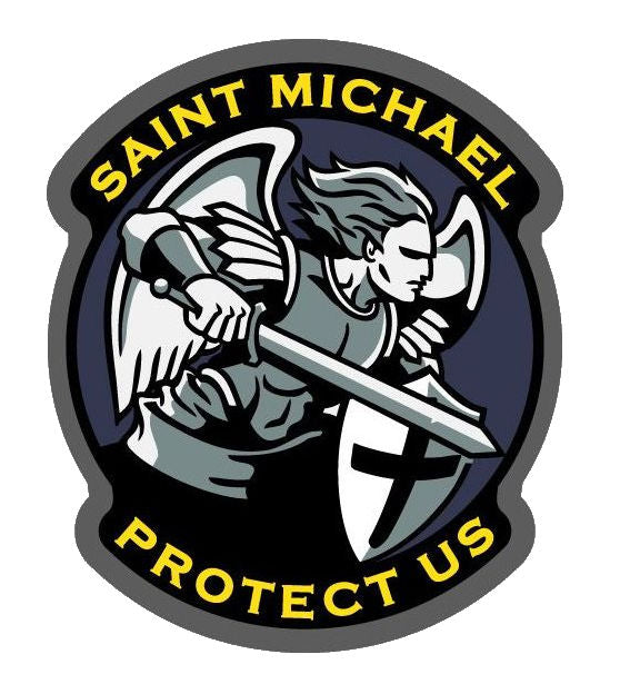 Saint Michael Protect Us Decal