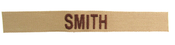 Cotton Webbing Desert Name Tape - SEW ON