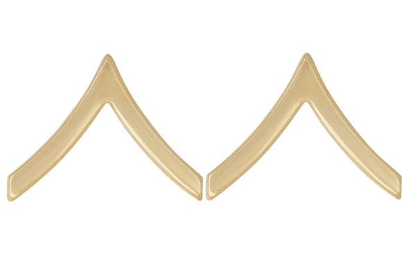 Gold Army Metal Pin on Rank - E-2 Private
