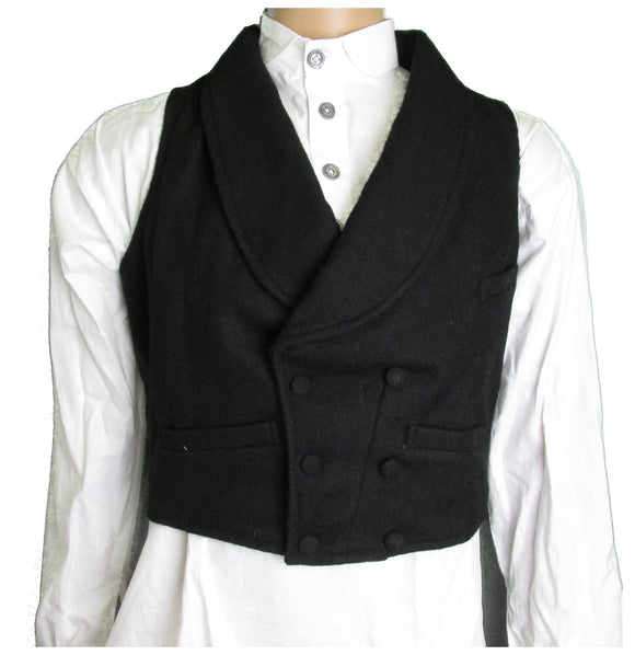 19th Century Fashionable Double Breast Shawl Collar Waistcoat - Vest Coat
