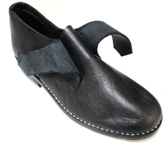 Reproduction Leather Colonial Shoes with Buckles