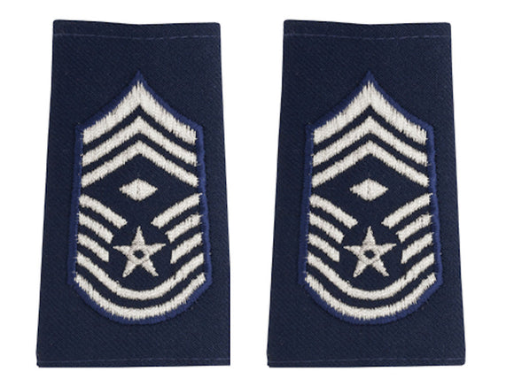 U.S. Air Force Epaulets - Shoulder Marks E-9 Chief Master Sergeant with Diamond