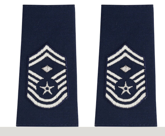 U.S. Air Force Epaulets - Shoulder Marks E-8 Senior Master Sergeant with Diamond