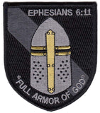 Ephesians 6:11 Full Armor of God Morale Patch - Various Colors