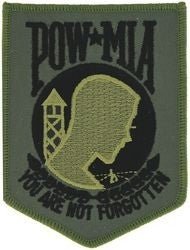 POW-MIA Subdued Small Patch