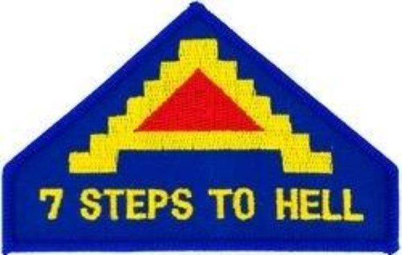 7th Army Patch - 7 Steps to Hell Patch