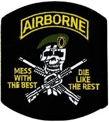 Airborne Mess With The Best Small Patch