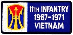 11th Infantry Vietnam Small Patch