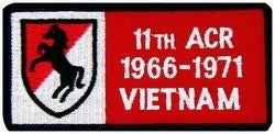 11th ACR (Armored Cavalry Regiment) Vietnam Small Patch