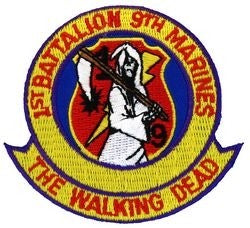 1st BN 9th Marine Small Patch