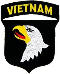 101st Airborne VIETNAM Small Patch