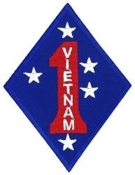 1st Marine Division Vietnam Vet Small Patch
