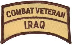 Combat Veteran Iraq Tab Small Patch