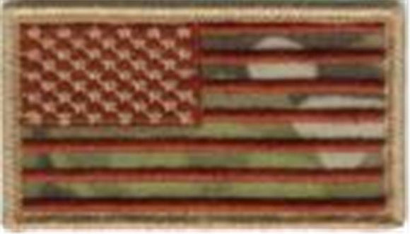 Multicam Flag Patch FORWARD - American U.S. Flag Patch - with HOOK Fastener