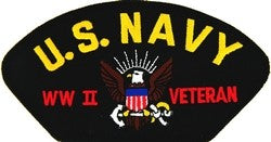 US Navy WWII Veteran Patch