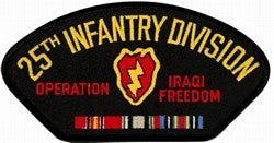 US Army 25th Infantry Division Iraqi Freedom Patch