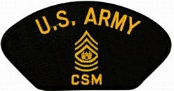 U.S. Army CSM Patch