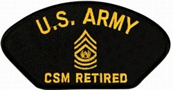 U.S. Army CSM Retired Patch