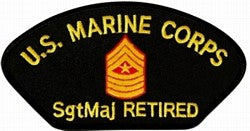 USMC E-9 SGT MAJ RETIRED PATCH