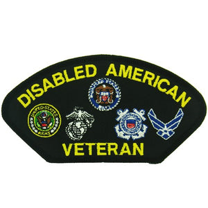 Disabled American Veteran Patch with Branch of Service Logos
