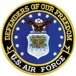 Defenders of our Freedom U.S. Air Force Back Patch - 5 Inch