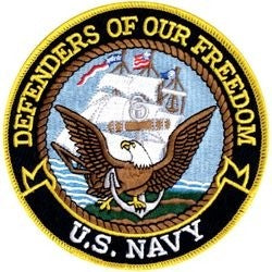Defenders of Our Freedom - U.S. Navy 5 Inch Patch