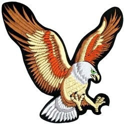 Eagle Back Patch - FULL COLOR 9.5 Inch