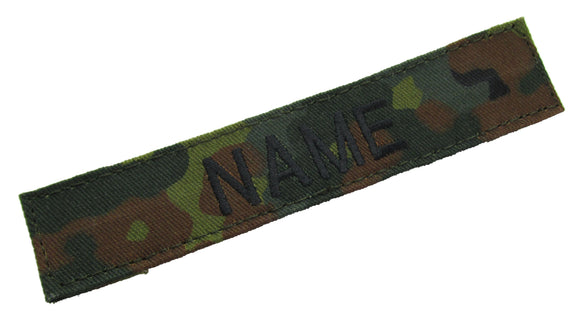 Flecktarn Name Tape with Hook Fastener - Fabric Material