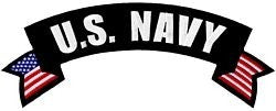 US Navy Rocker Back Patch
