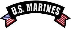 US Marines Rocker Back Patch