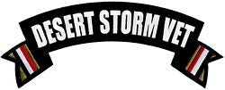 Desert Storm Veteran Rocker Back Patch