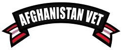 Afghanistan Veteran Rocker Back Patch