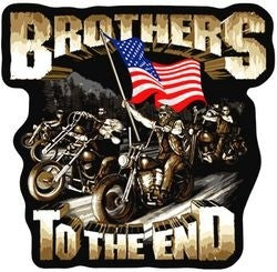Brothers to the End Back Patch - 11 Inch