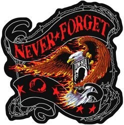 Eagle POW Never Forget Back Patch - 12 Inch