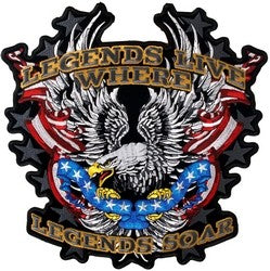 Legends Live Where Legends Soar Back Patch - 11 Inch