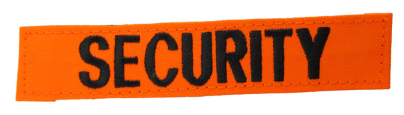 Fluorescent Orange Name Tape with Hook Fastener - Fabric Material