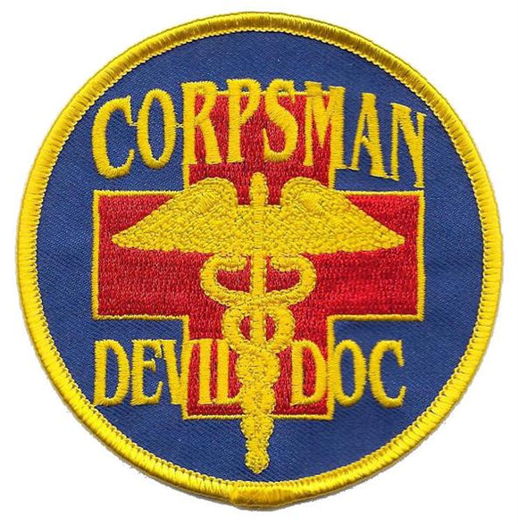 Corpsman Devil Doc USMC Patch