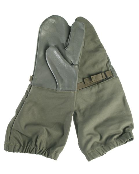 German Trigger Finger Mittens - OLIVE DRAB - Genuine Military Surplus - Closeout Buy Now and Save