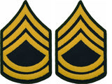 U.S. Army Gold on Green Chevrons - Pair - All Enlisted Ranks