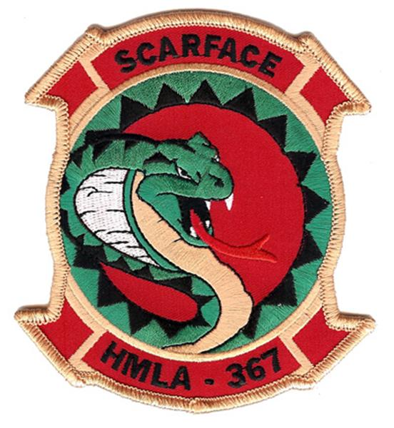 HMLA-367 SCARFACE Squadron USMC Patch