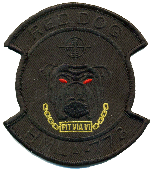 HMLA-773 Red Dog USMC Patch - Dark Ops
