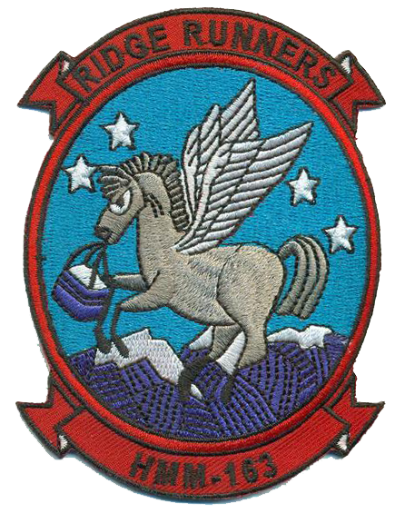 HMM-163 Ridge Runners USMC Patch -1970-1972 Reproduction