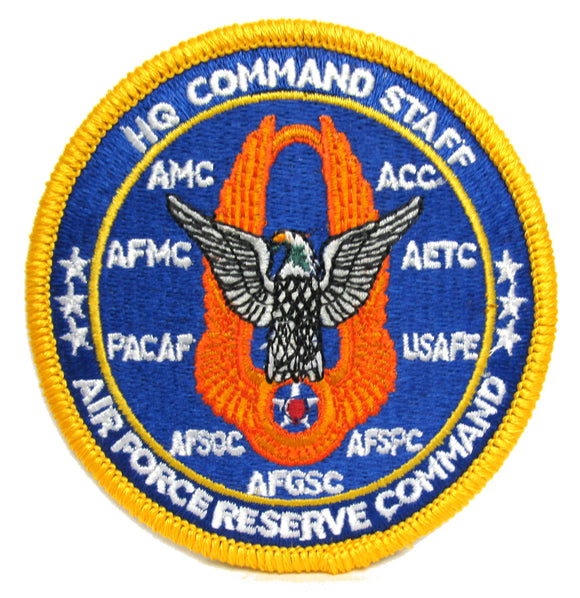 HQ Command Staff - Air Force Reserve Command Patch with Hook Fastener
