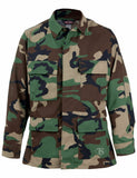 CLEARANCE - Military BDU Jacket WOODLAND CAMO - IRREGULAR
