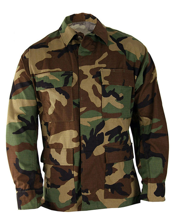 Military BDU Jacket WOODLAND CAMO - IRREGULAR