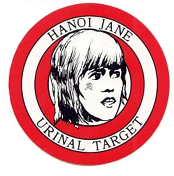 Hanoi Jane Urinal Target Sticker - 5 Stickers per Package