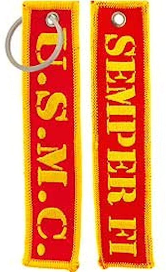 USMC - Semper Fi Embroidered Key Chain
